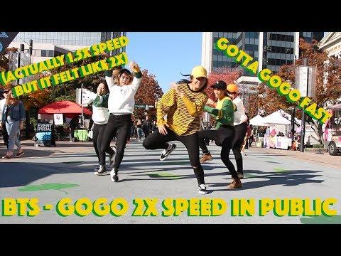 BTS - GOGO 2x SPEED [IN PUBLIC!]