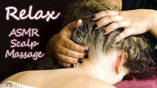 ASMR Scalp Massage by Professional Massage Therapist,  Whispering & Hair Sounds for Sleep