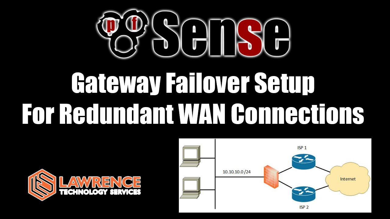 small resolution of pfsense dual wan failover setup guide for redundant wan connections youtube