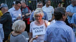 Protest w obronie polskiego sądownictwa