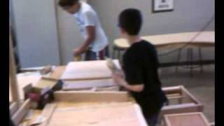 Middle School Shop Making Mission Style Oak Tables