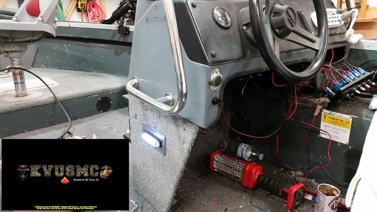 Boat Wiring LED Deck Light & Toggle Switch With KVUSMC - YouTube