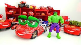 Распаковка. Большая #Машинка игрушка Молния Макквин. Смена образа и Халк. Обзор машинок для детей