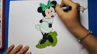 Vẽ Chuột Minnie trong phim hoạt hình mickey mouse