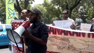West Papuan People (KNPB) in Jakarta demand Referendum (14/11/2011)