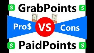 Grabpoints vs paidpoints gpt websites to make money online