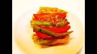 Китайская кухня. Быстро и вкусно. Жареные перцы в соусе с чесноком mp4