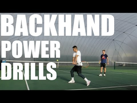 Backhand Power Drills + Baseline Practice
