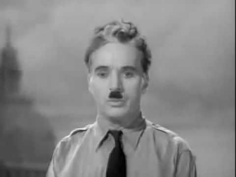 The Most Powerful Speech You Will Want To Hear. Thank You Mr. Chaplin