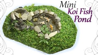 How to: Mini Koi Fish Pond - Polymer Clay / Resin Craft Tutorial