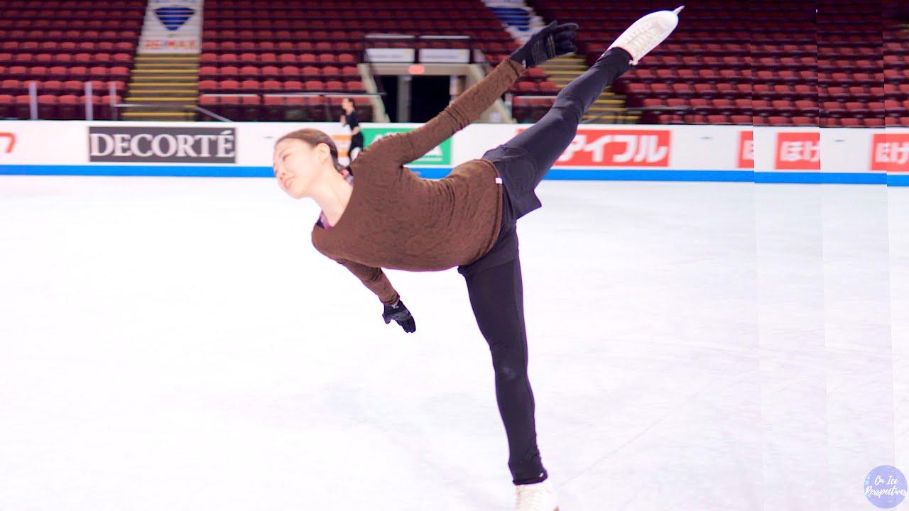 "Rika Kihira warms up to Beyonce's ""Spirit"" from The Lion King at Skate Canada International gala."