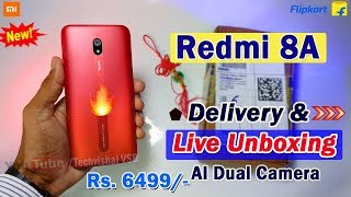 Redmi 8A Flipkart Live Unboxing & Overview, First Impression | Only ₹ 6499 Best Budget Smartphone