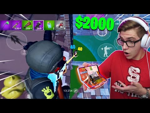 I Used A $2000 FOLDING PHONE On Fortnite Mobile... (best Device)