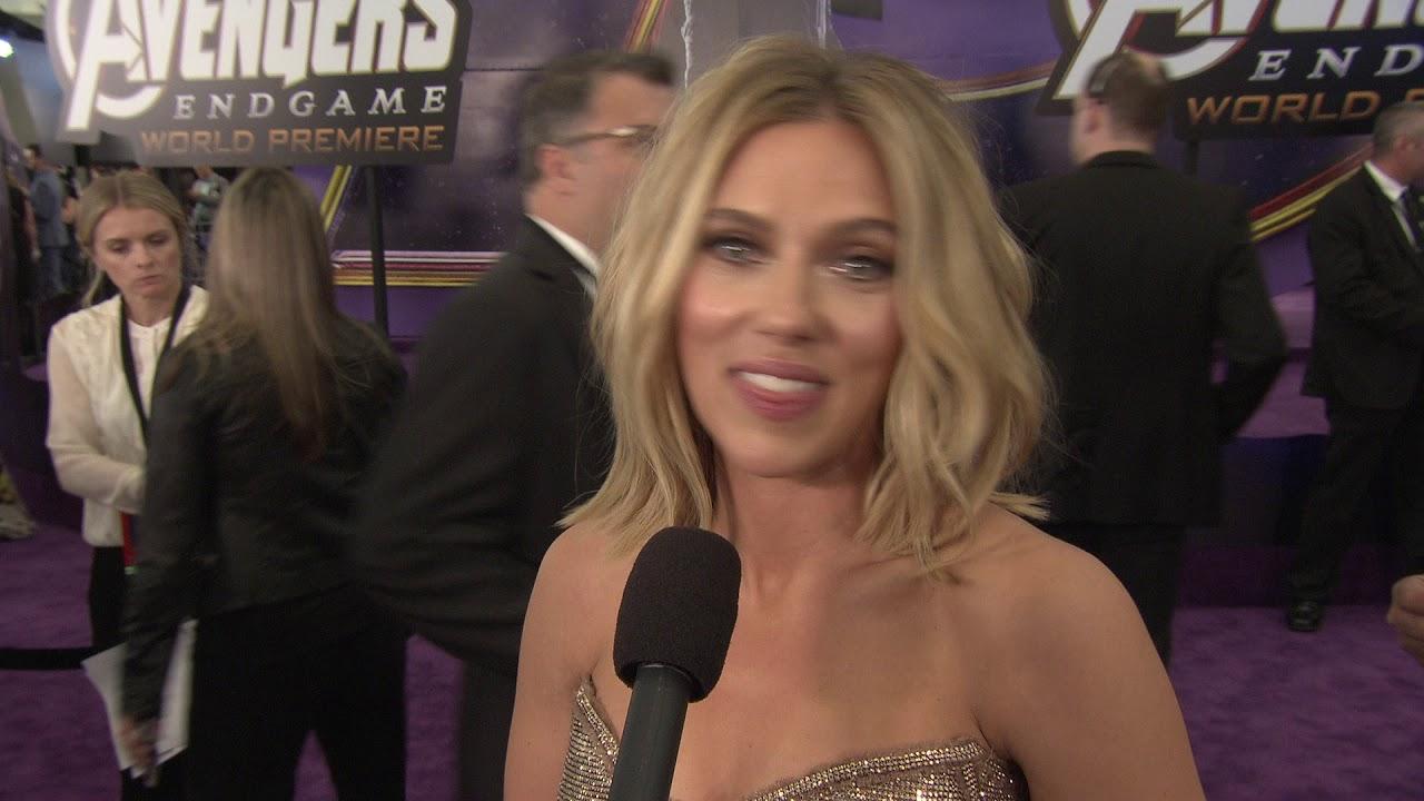 Avengers Endgame Scarlett Johansson Natasha Romanoff Black Widow Premiere Interview Youtube