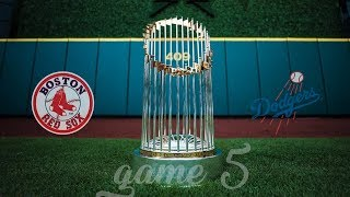 Red Sox Win the 2018 World Series! Red Sox VS Dodgers Game 5 Broadcast