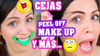 Peel Off Makeup, Cejas Tattoo - Probando Productos Asiáticos 2