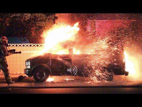 Chevy Astro Van Fire Stolen Lafd Youtube