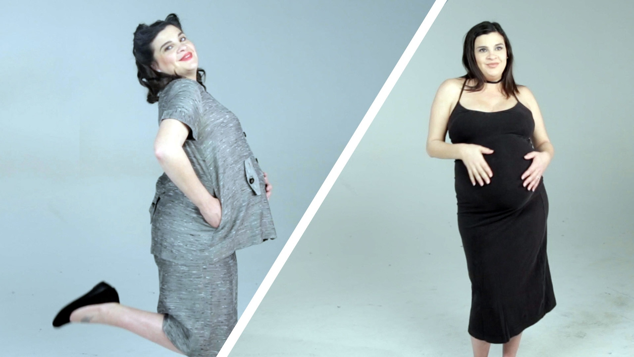 70660f8fd0426 100 Years Of Maternity Fashion - YouTube