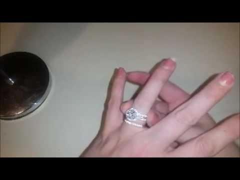 Bonlavie 3 45ct 925 Sterling Silver Cubic Zirconia Halo Wedding Band Anniversary Engagement Ring Bri