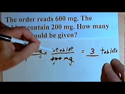 Drug Calculations Basic Examples 105 Youtube
