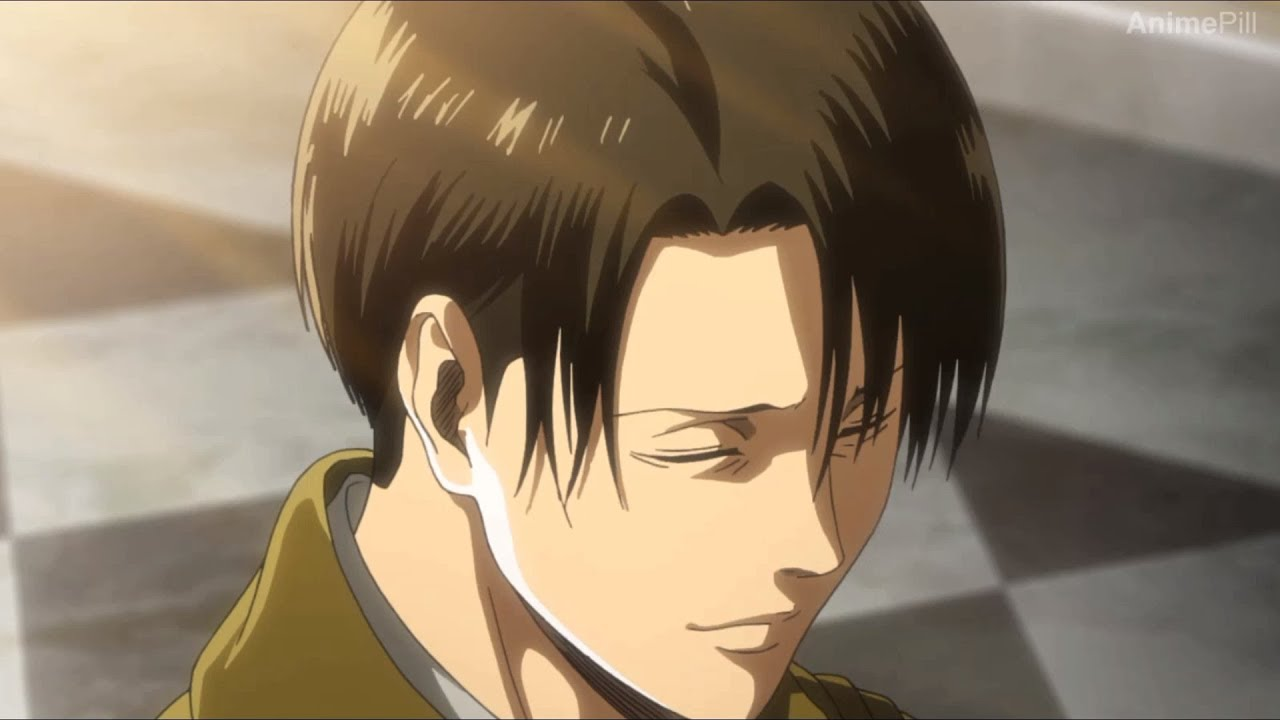 Levi Ackerman smiles for the first time - Attack On Titan ...