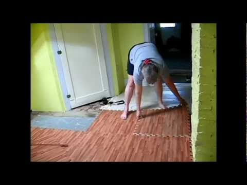 New Foam Flooring for the Upstairs Landing