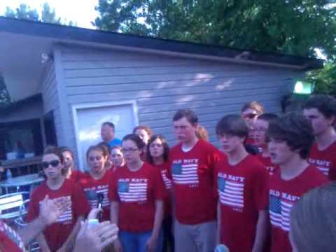 Sr. High Choir National Anthem East Lincoln Speedway, NC 2011.mp4
