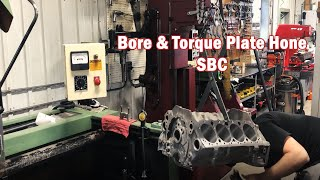 Boring a SBC for a 383 Stroker Build & Installing Press Fit Piston Pins on 402 BBC Connecting Rods