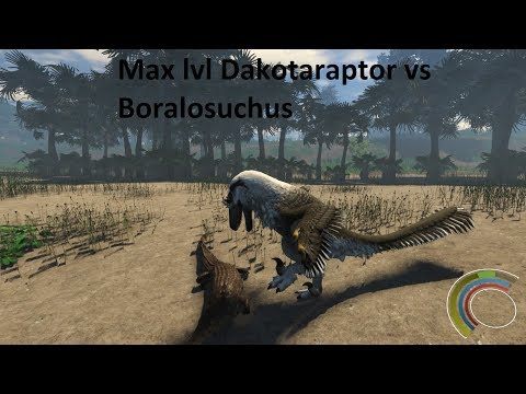 Max Level DAKOTARAPTOR vs BORALOSUCHUS (Croc)- Saurian, Steam