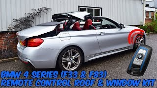 BMW 4 Series F33 & F83 Convertible Remote Roof Open & Close Kit