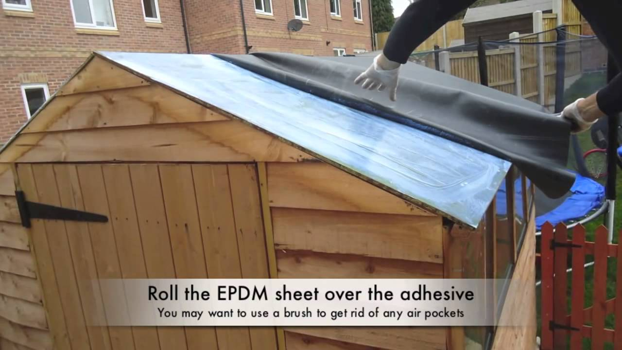 How To Install Firestone Epdm Rubber Roofing On A Shed