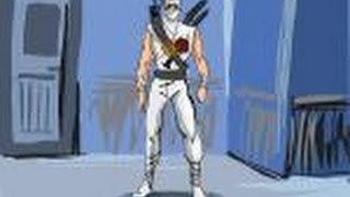 How to draw Storm Shadow from G.I. Joe
