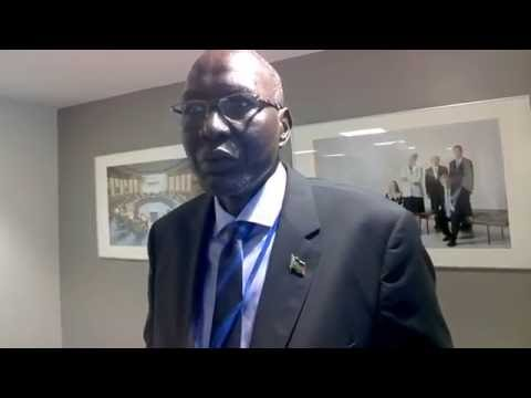 CI Africa interviews South Sudan Finance Minister Stephen Dhieu Dau #IMFMeetings