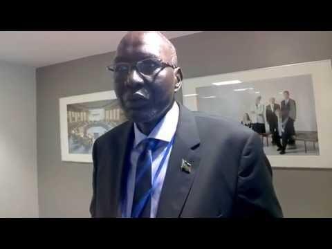 CI Africa interviews South Sudan Finance Minister Stephen Dhieu Dau #IMFMeetings