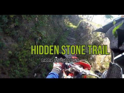 Stone hidden in enduro rail - GasGas ec 250 - Enduro time - Gopro Hero 4