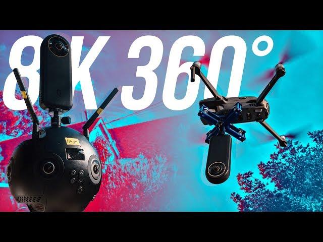8K 360° - Qoocam 8K on a DRONE vs Insta360 Pro 2 vs GoPro MAX