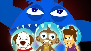 Space Ghost Attacks Annie Ben and Mango | Adventures of Annie and Ben | Funny Cartoon for Kids