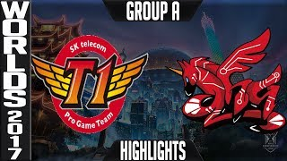 SKT vs AHQ highlights S7 World Championship 2017 Group A Day 3 SK Telecom T1 vs AHQ e-Sports Club