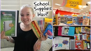Back to School Supplies Haul 2014 + Giveaway!