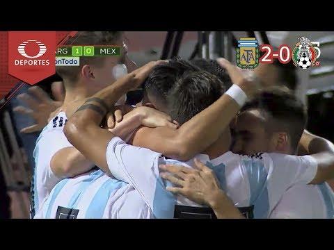 ¡La albiceleste se impone! | Argentina 2 - 0 México | Partido amistoso - Televisa Deportes