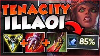 FULL AD ILLAOI + 85% TENACITY IS ACTUALLY TERRIFYING! ILLAOI TOP GAMEPLAY! - League of Legends