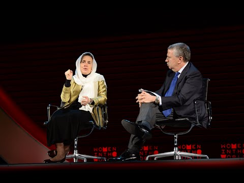Afghanistan's first lady Rula Ghani in conversation with Thomas Friedman