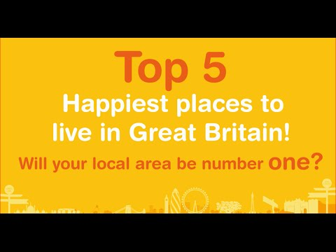 Top five happiest places to live in great britain youtube for Happiest places to live