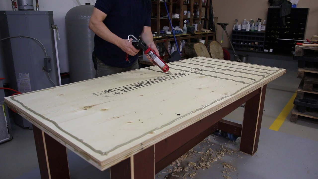 How To Laminate 3 Sheets Of Plywood Into One Youtube