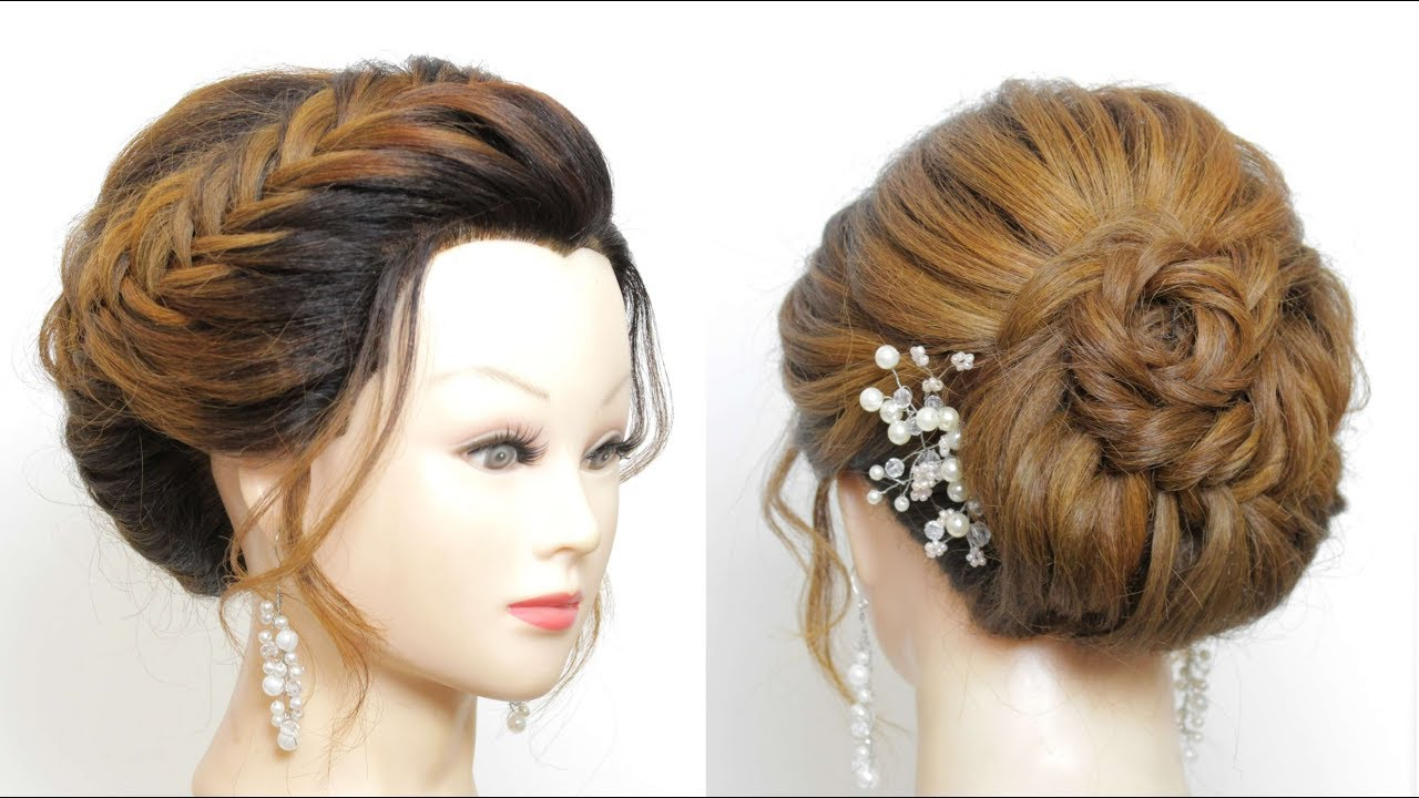 Braided Bridal Hairstyle For Long Hair Wedding Prom Updos