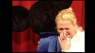 Mickey Mouse sings happy birthday, providing an emotional moment for a Disney Fangirl