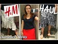 H&M MIDI SKIRTS HAUL/SUMMER 2018 STYLE GUIDE//FASHION VLOG N.41