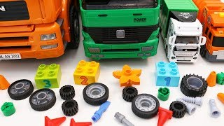 Garbage Truck Toys Learning Colors and Sizes with Toy Vehicles for Kids
