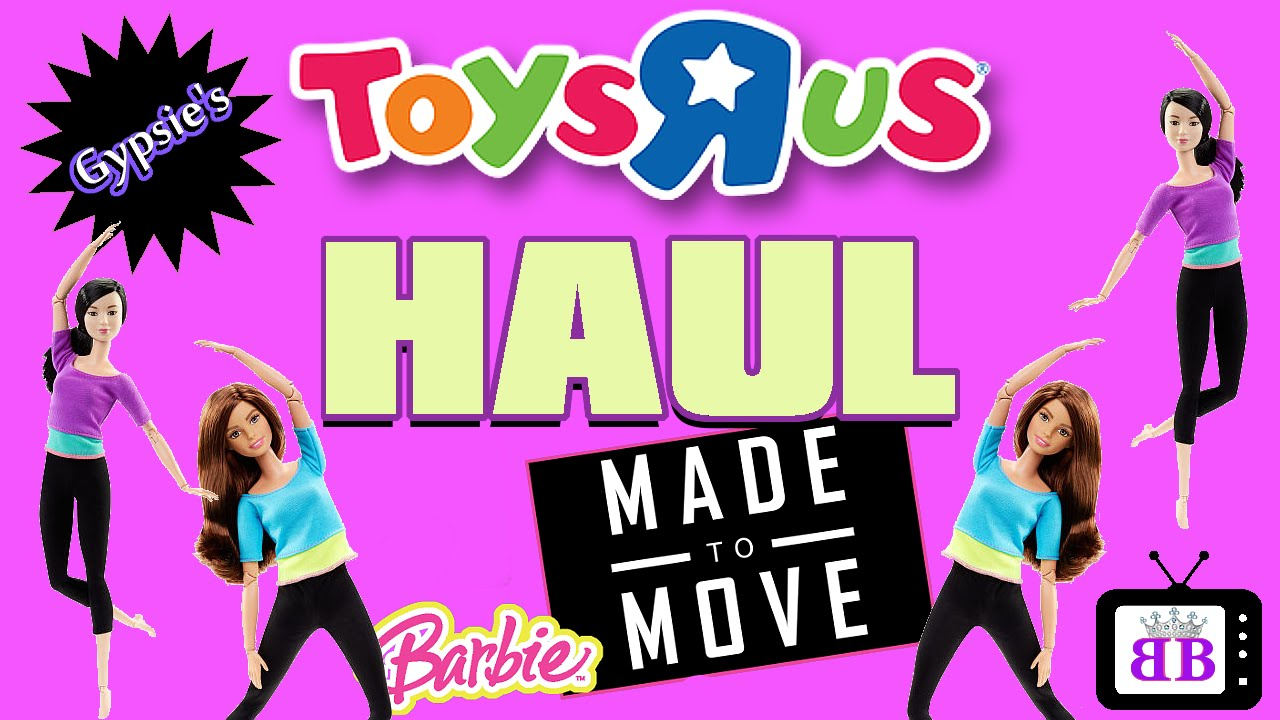 Toys R Us Barbie Made To Move Barbie Doll Toy Haul Youtube