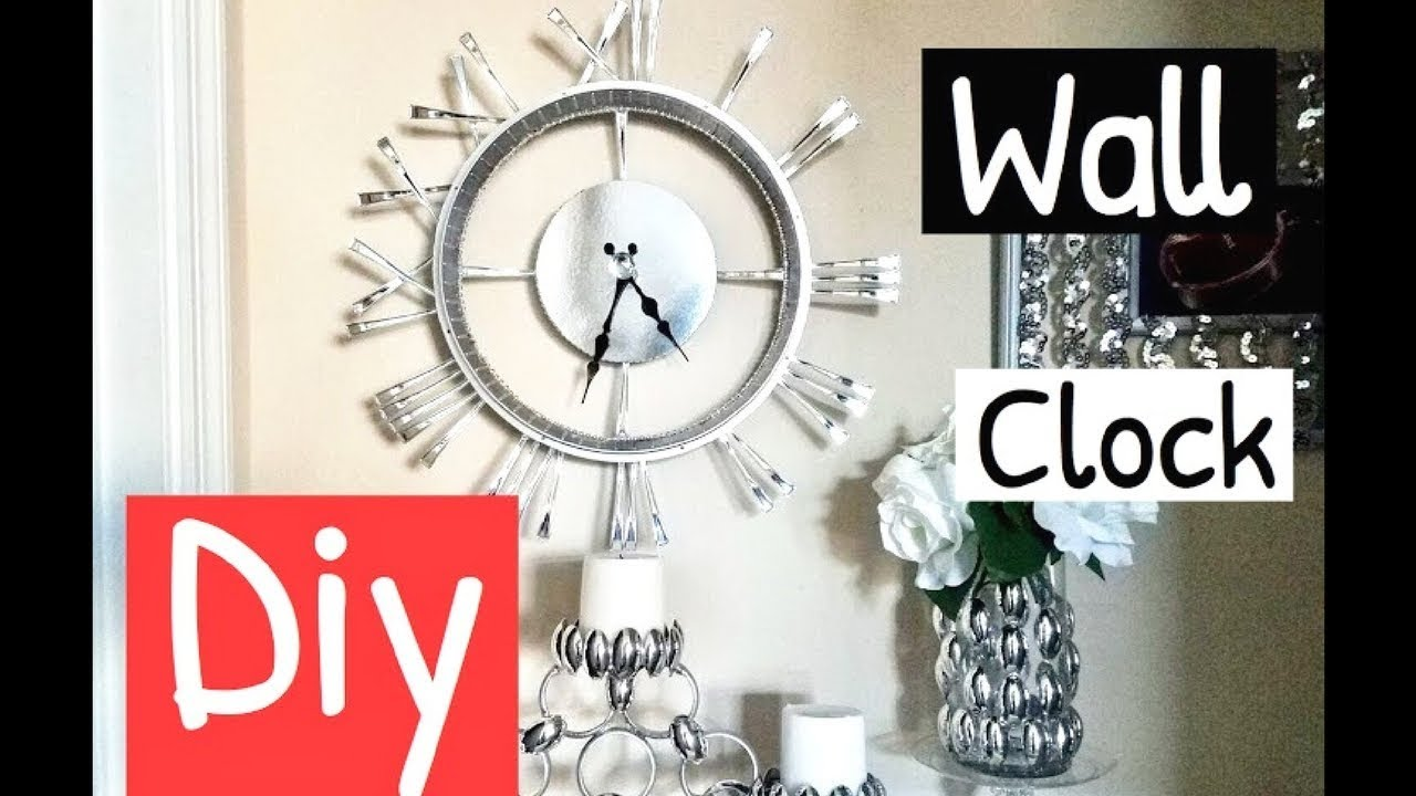 Diy Wall Mirror Clock Home/Room Decor Using Spoons from ...